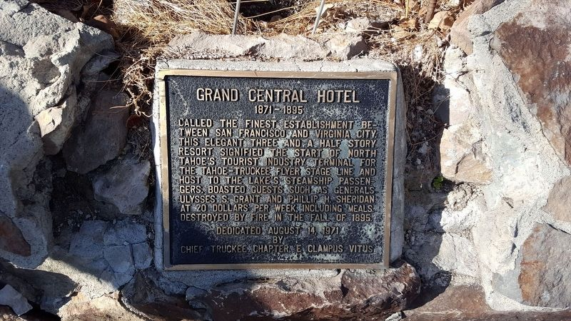 Grand Central Hotel Marker image. Click for full size.