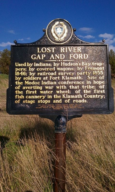 Lost River Gap and Ford Marker image. Click for full size.