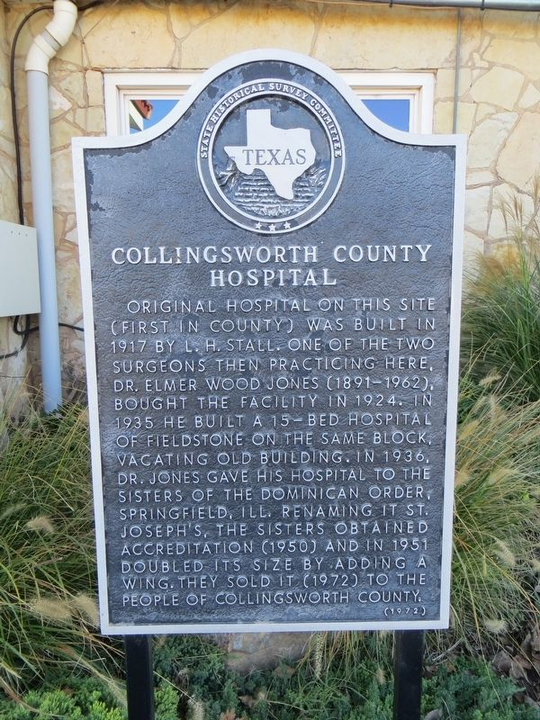 Collingsworth County Hospital Marker image. Click for full size.