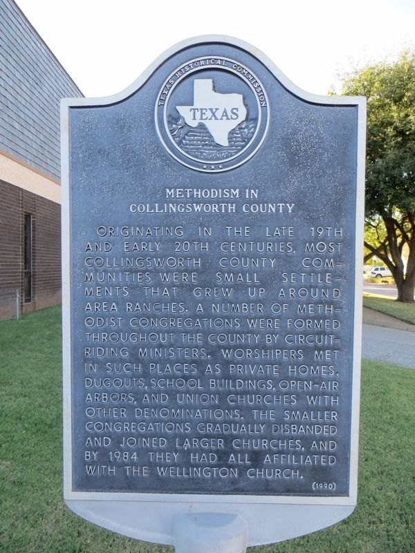 Methodism in Collingsworth County Marker image. Click for full size.