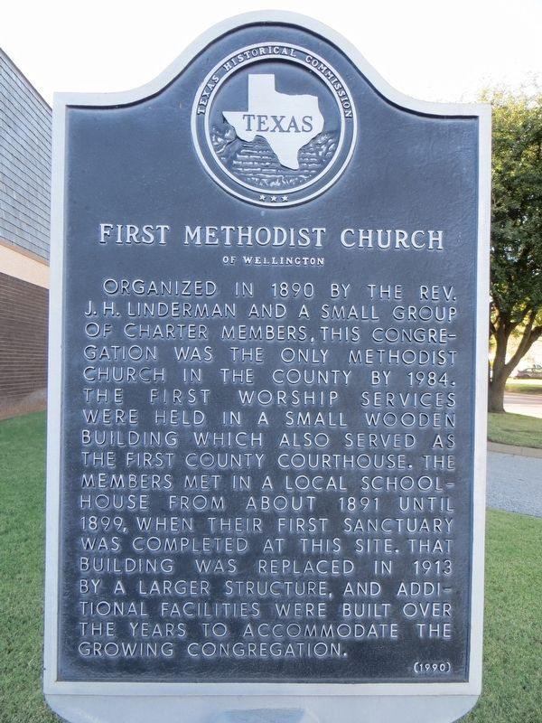First Methodist Church of Wellington Marker image. Click for full size.
