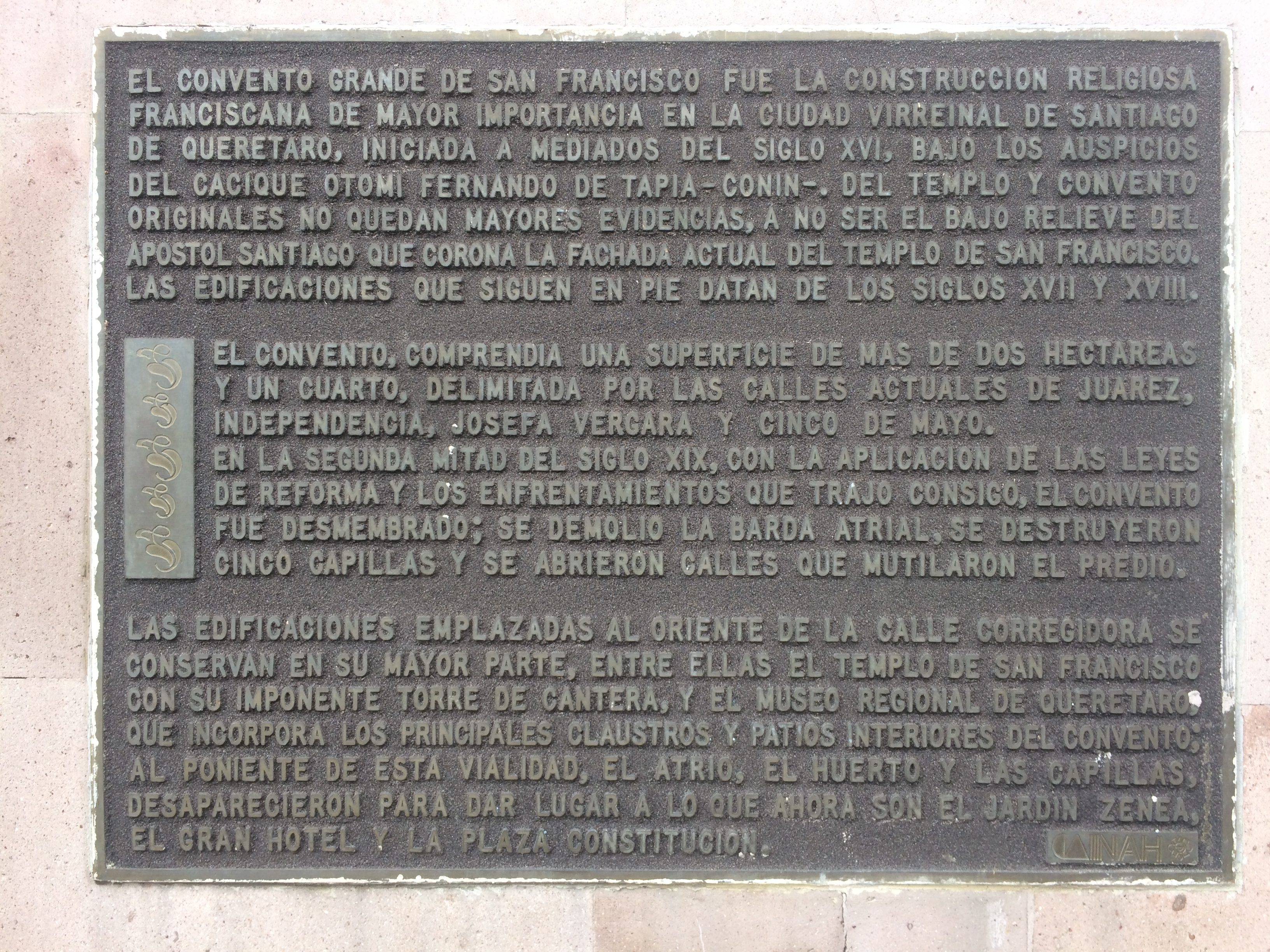 The Great Convent of San Francisco Marker