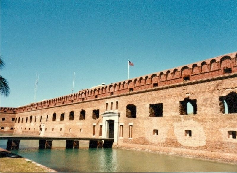 Entrance to Fort Jefferson image. Click for full size.
