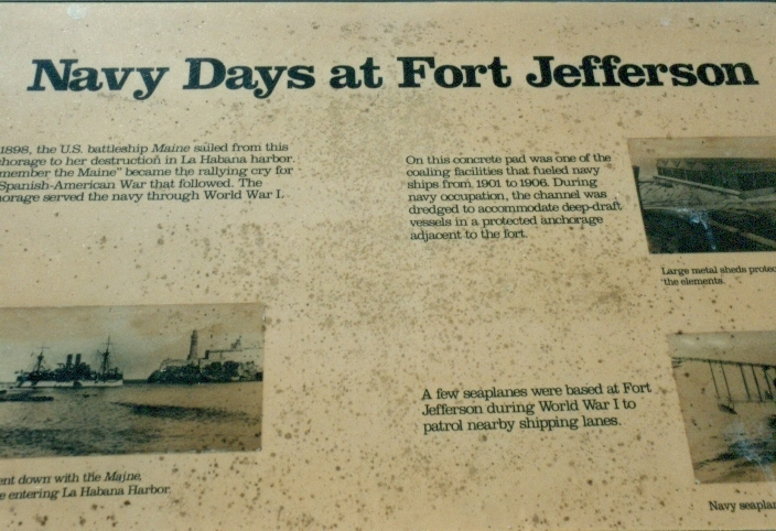 Navy Days at Fort Jefferson Marker