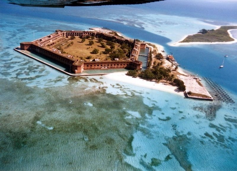 Fort Jefferson from the air image. Click for full size.