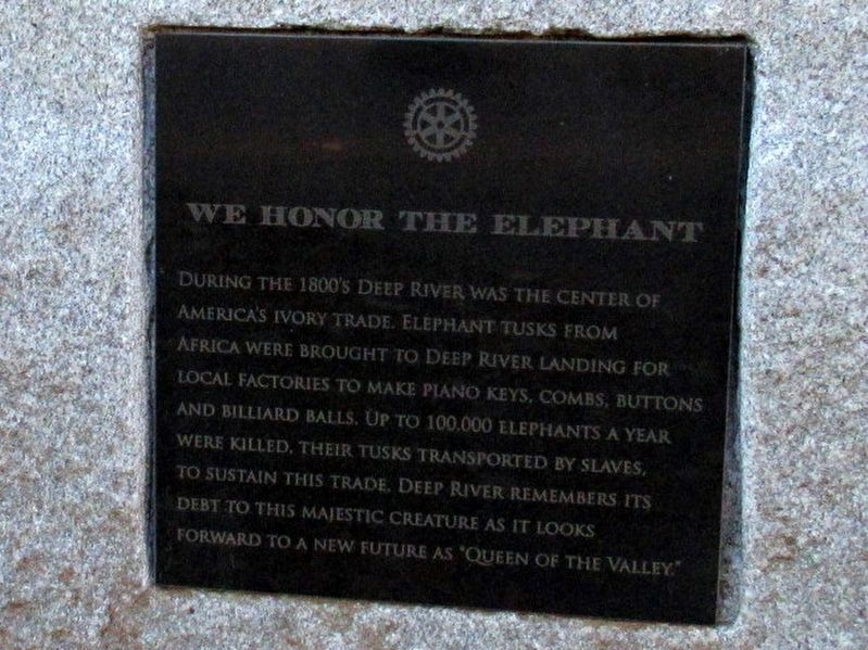 We Honor the Elephant Marker image. Click for full size.