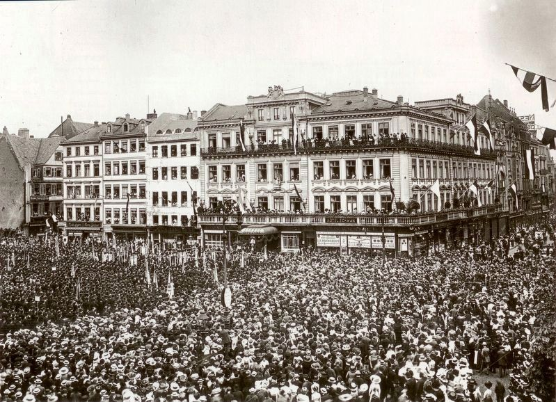 Goethe Square and the Schwan Hotel on the 25th Anniversary of the Battle of Sedan image. Click for full size.