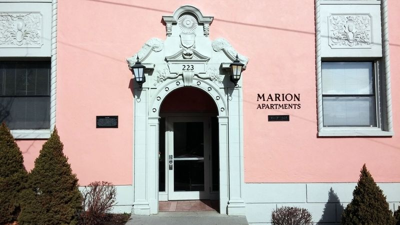 Marion Apartments Marker image. Click for full size.