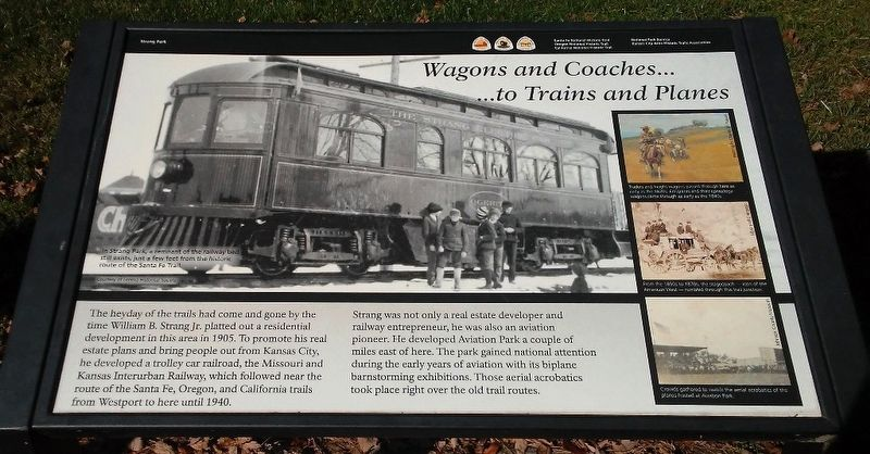 Wagons and Coaches... ...to Trains and Planes Marker image. Click for full size.