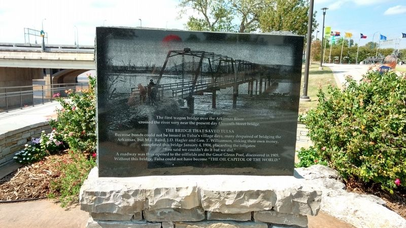 The Bridge that Saved Tulsa Marker image. Click for full size.