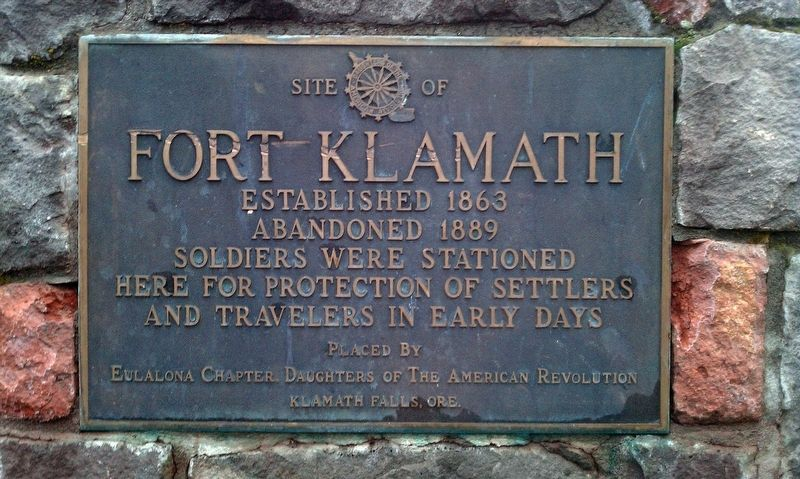 Site of Fort Klamath Marker image. Click for full size.