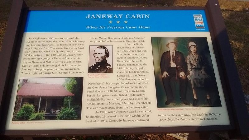 Janeway Cabin Marker image. Click for full size.
