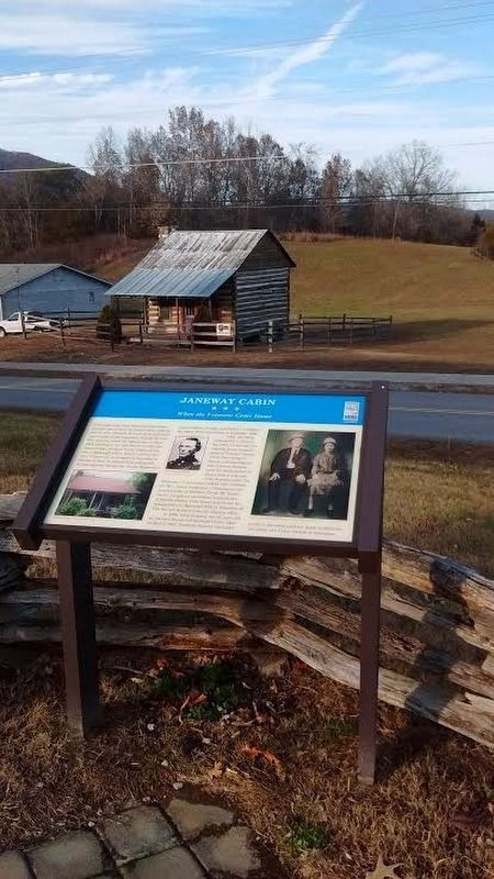 Janeway Cabin and Marker image. Click for full size.