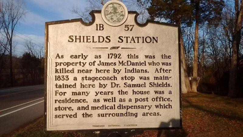 Shields Station Marker image. Click for full size.