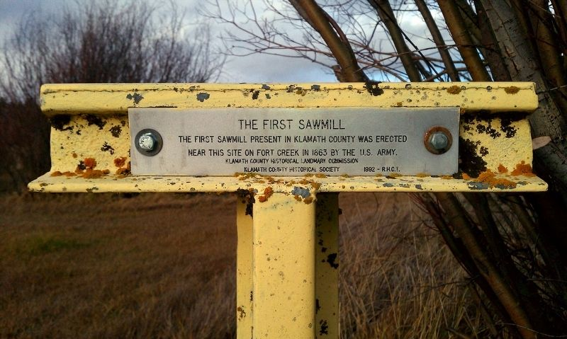 The First Sawmill Marker image. Click for full size.
