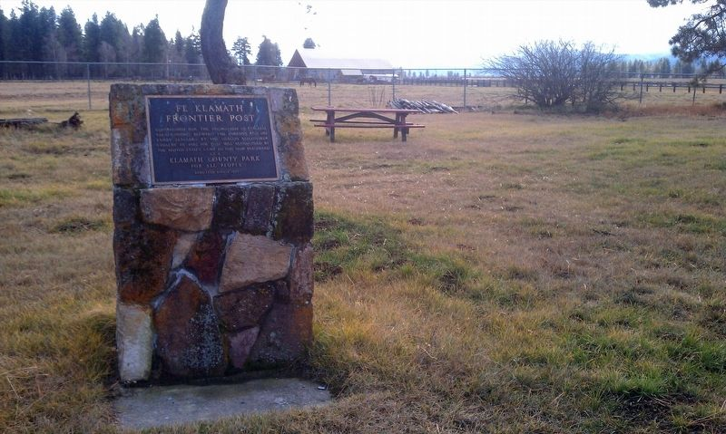 Fort Klamath Frontier Post Marker image. Click for full size.