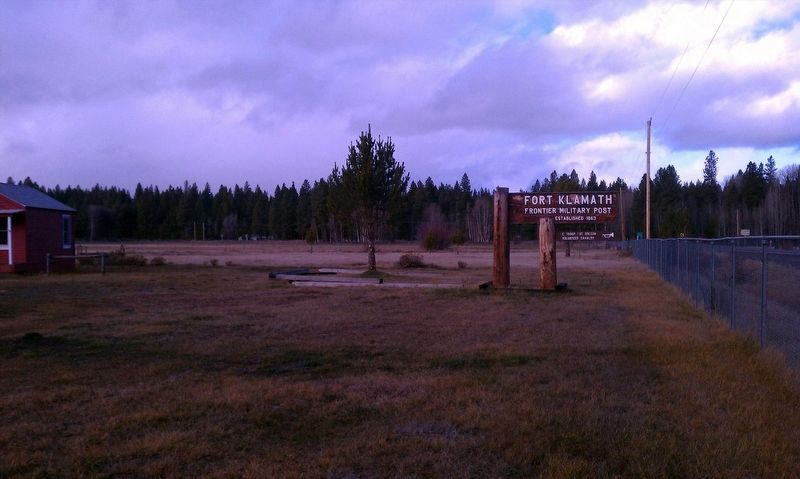 Fort Klamath County Park Museum entrance image. Click for full size.