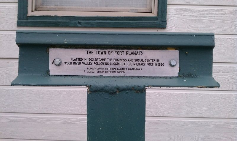 The Town of Fort Klamath Marker image. Click for full size.