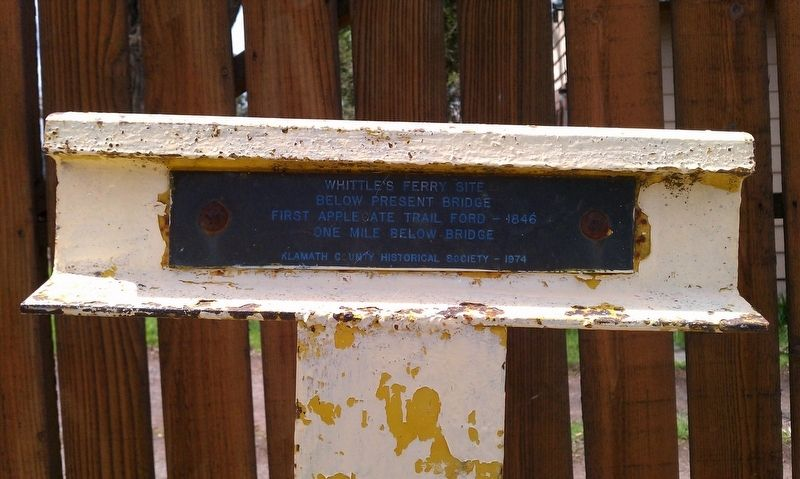 Whittle's Ferry Site Marker image. Click for full size.