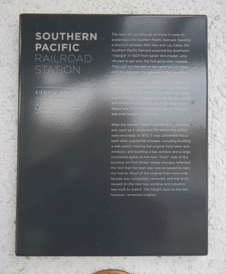 Southern Pacific Railroad Station Marker image. Click for full size.