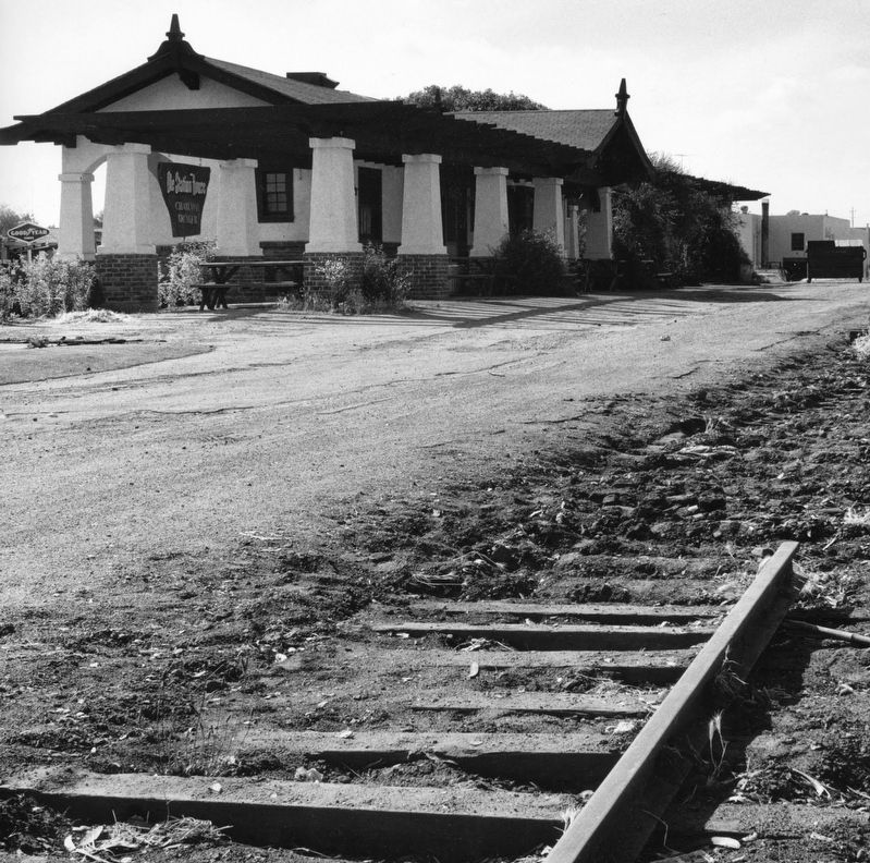 Southern Pacific Railroad Station just after the rails were being removed. image. Click for full size.