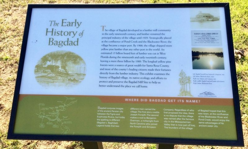 The Early History of Bagdad Marker image. Click for full size.