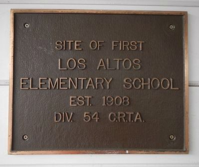 Los Altos Elementary School Marker image. Click for full size.