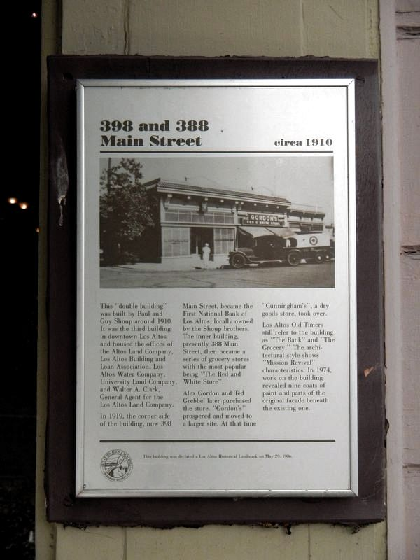 398 and 388 Main Street Marker image. Click for full size.