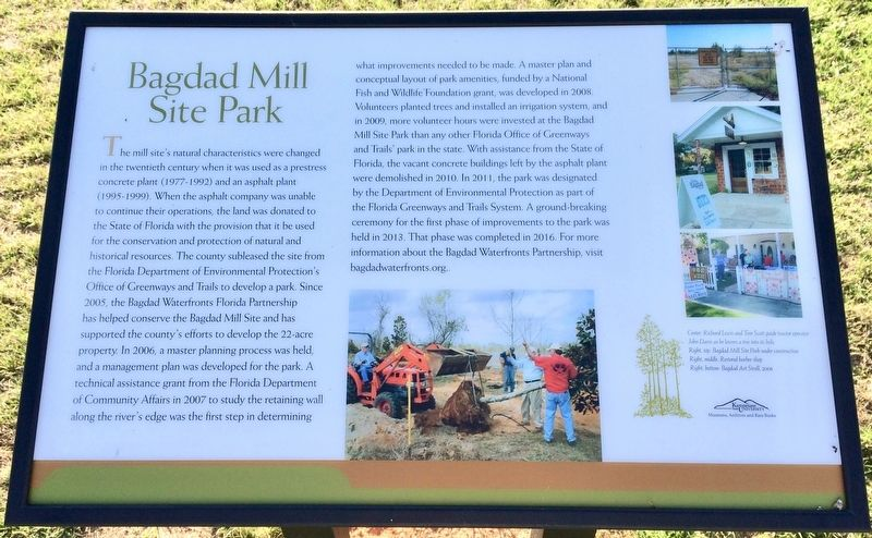 Bagdad Mill Site Park Marker image. Click for full size.