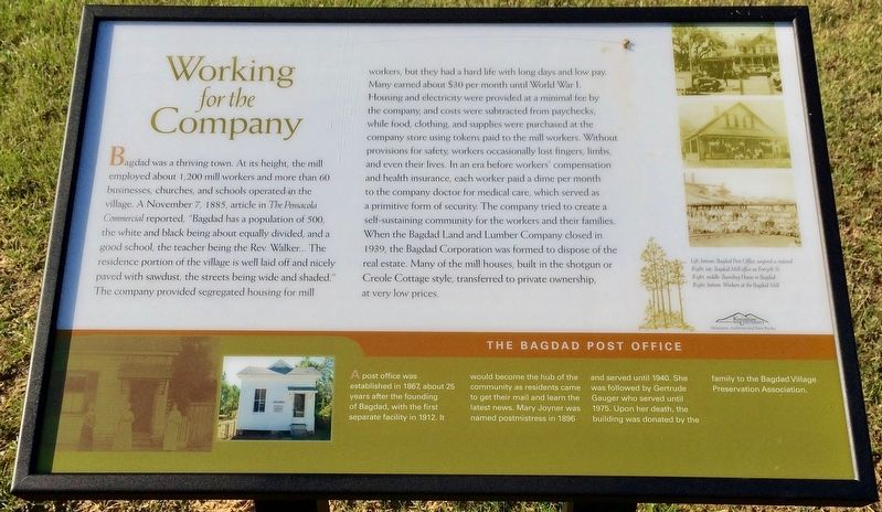 Working for the Company Marker image. Click for full size.