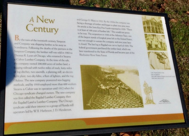 A New Century Marker image. Click for full size.