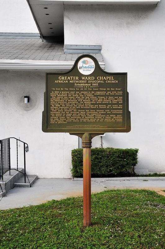 Greater Ward Chapel Marker image. Click for full size.