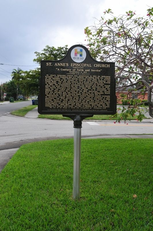 St. Anne's Episcopal (Anglican) Church Marker image. Click for full size.
