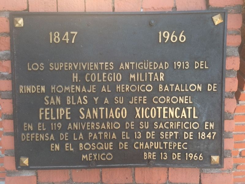 The San Blas Battalion Marker image. Click for full size.