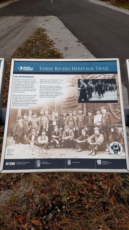 Iron and Steel Workers Marker image. Click for full size.