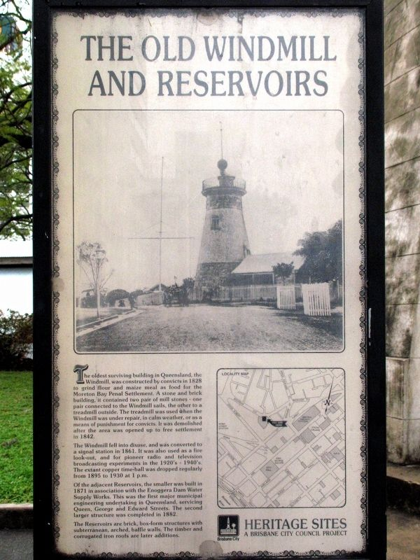 The Old Windmill and Reservoirs Marker image. Click for full size.