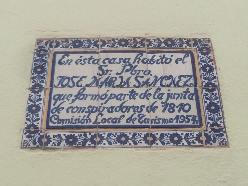 House of José María Sánchez Marker image. Click for full size.