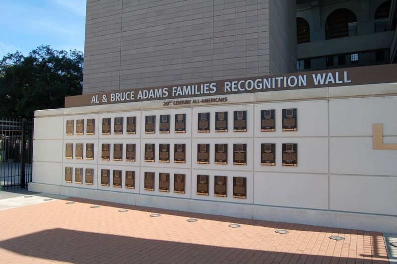 The Al & Bruce Adams Family Recognition Wall. image. Click for full size.