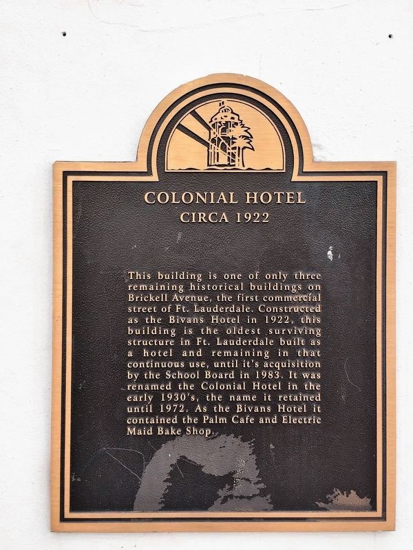 Colonial Hotel Marker image. Click for full size.