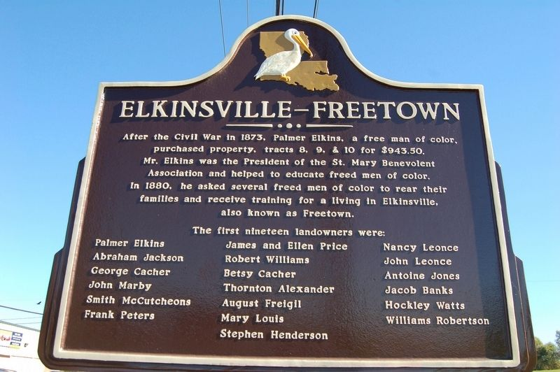 Elkinsville-Freetown Marker image. Click for full size.
