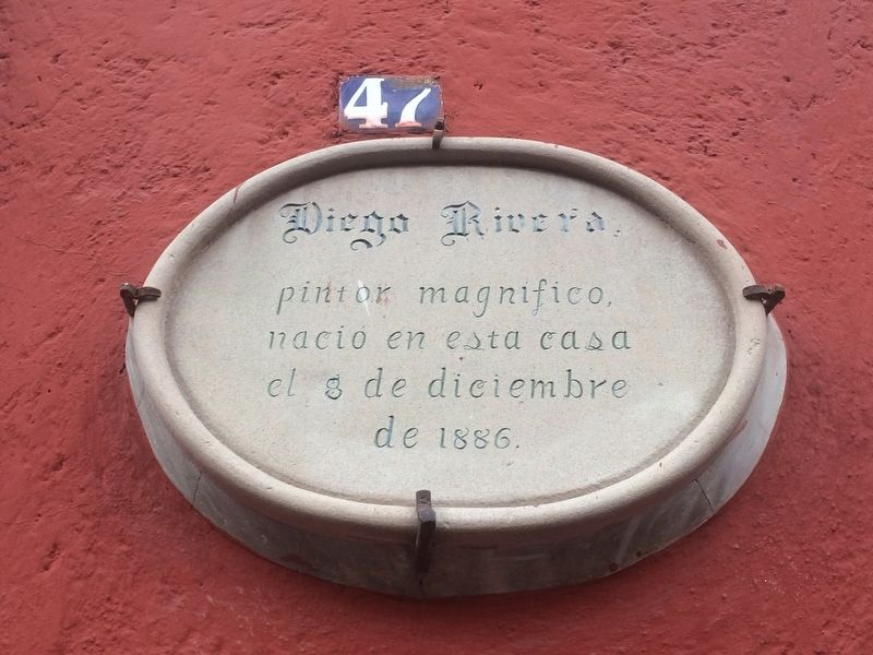 Diego Rivera House Marker image. Click for full size.