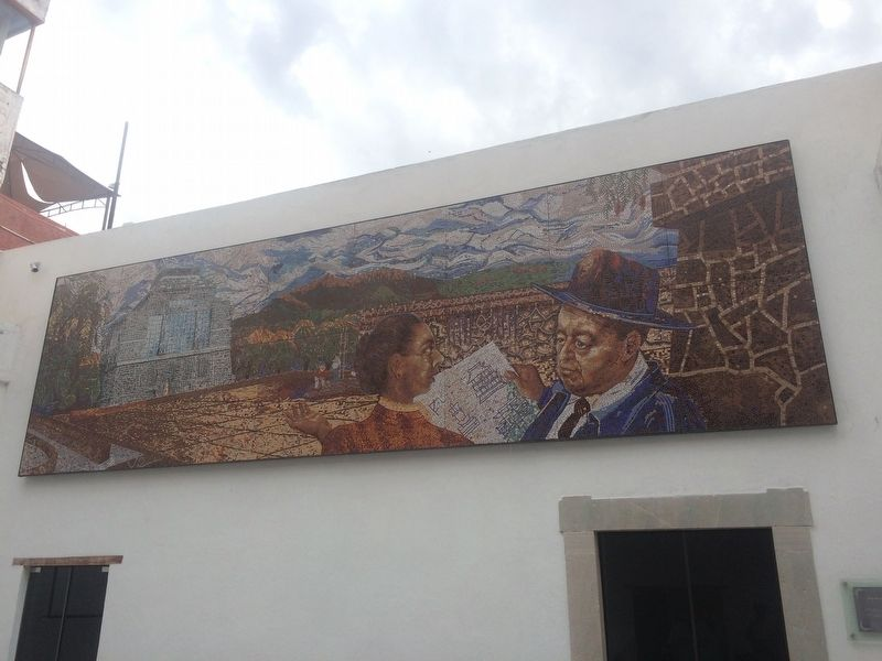 Diego Rivera House Museum mural image. Click for full size.