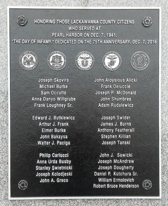 Pearl Harbor Memorial Marker image. Click for full size.