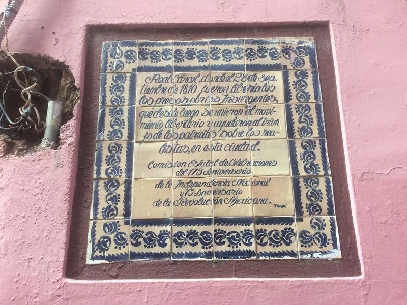 The Royal Prison of Guanajuato Marker image. Click for full size.