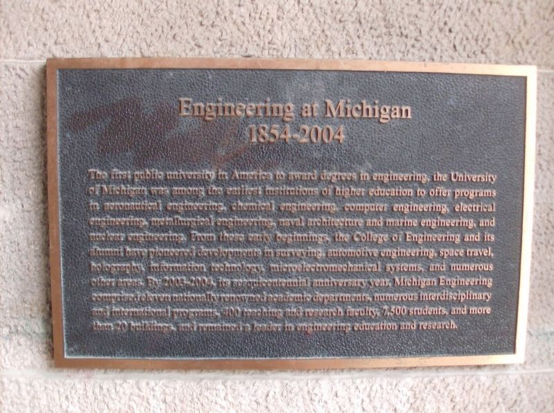 Engineering at Michigan Marker image. Click for full size.