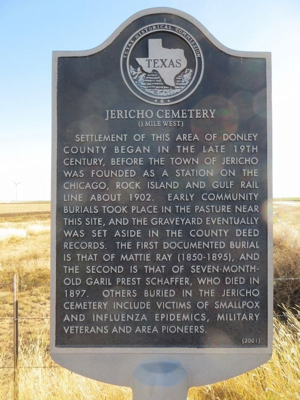 Jericho Cemetery Marker image. Click for full size.