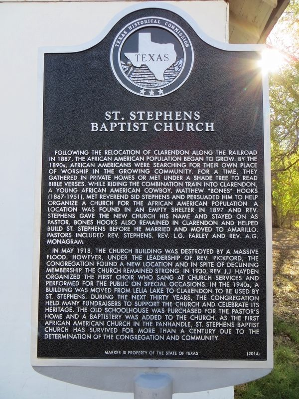 St. Stephen's Baptist Church Marker image. Click for full size.
