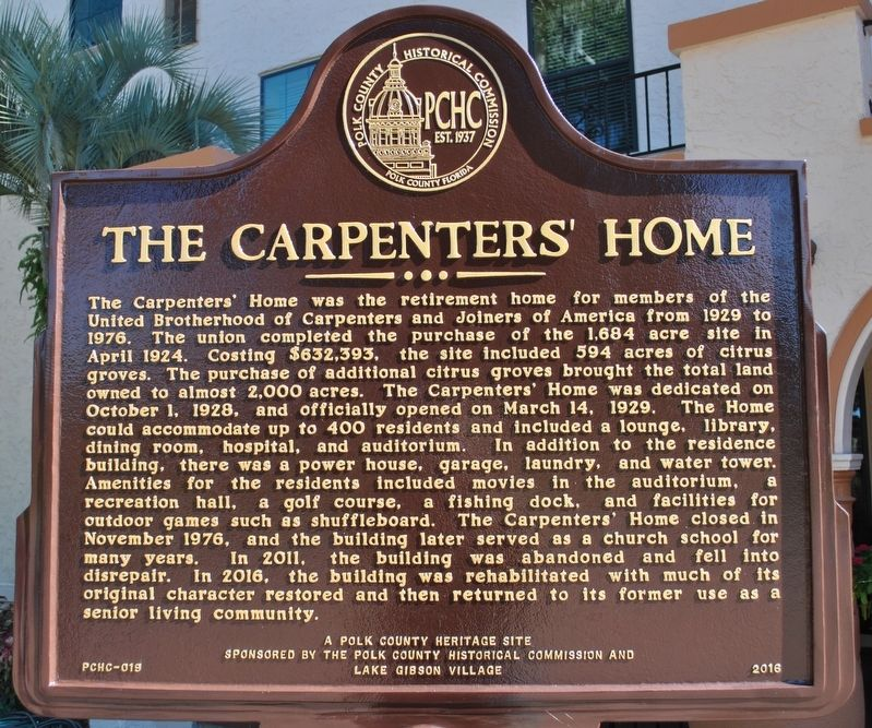 The Carpenters' Home Marker image. Click for full size.