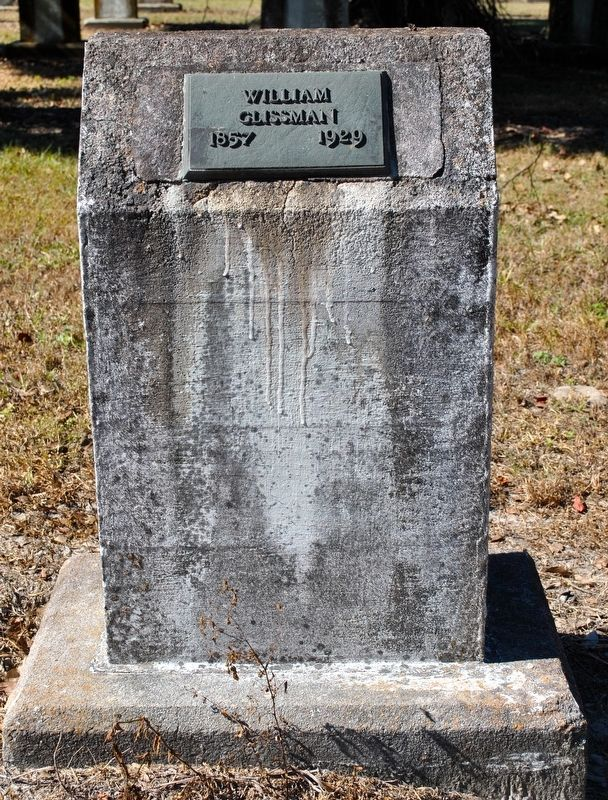 Grave Marker of William Glissman. image. Click for full size.