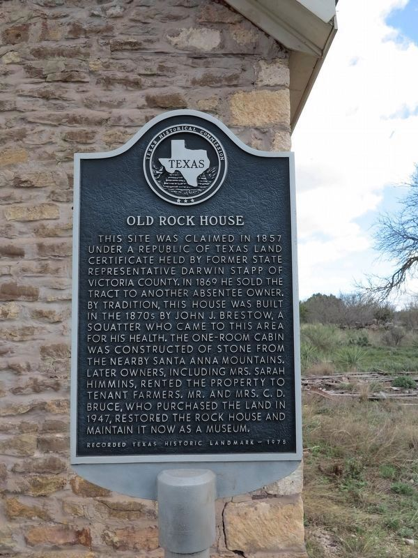 Old Rock House Marker image. Click for full size.